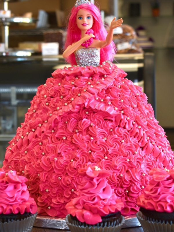 Barbie Goodies Birthday Cake Winnipeg