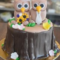 Owl Wedding Cutting Cake by Goodies Bakeshop