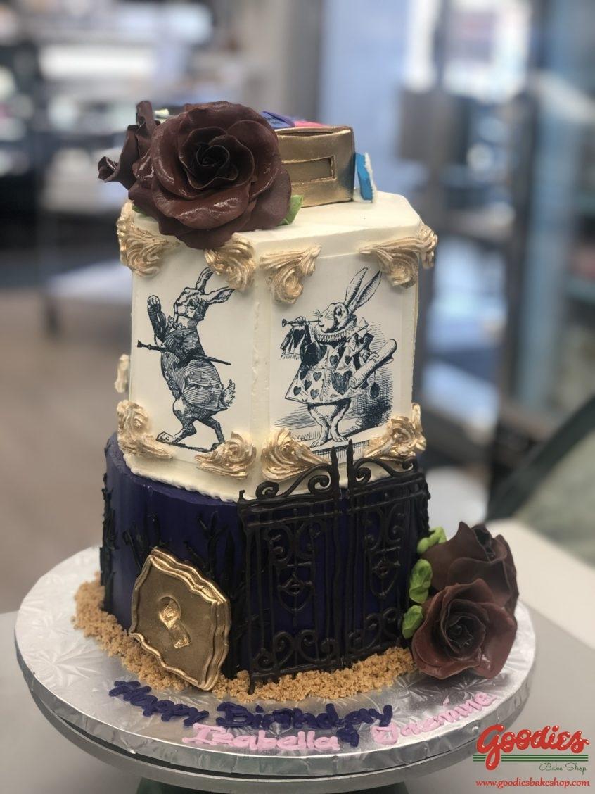 Prime Modern Alice In Wonderland Cake Goodies Bakery Winnipeg Funny Birthday Cards Online Alyptdamsfinfo